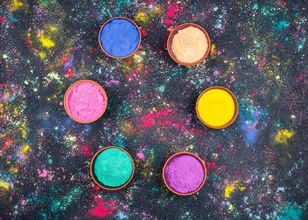 Pigmenty gulal na holi festiwal kolorów