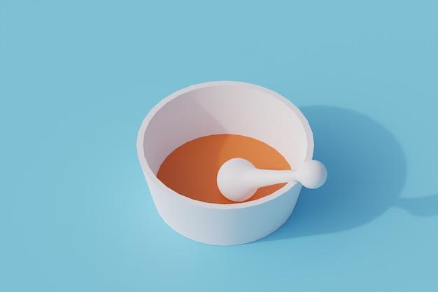 Pigułki pojedynczy izolowany obiekt. 3d render ilustracji izometryczny