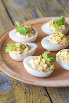 Pikantne jaja w ogniu