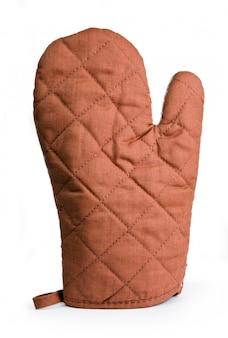 Pikowana brązowa rękawica chroniąca przed ciepłem