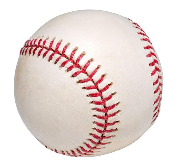 Piłka baseballowa na białym tle na białym tle.