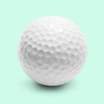 Piłka golfowa na białym tle
