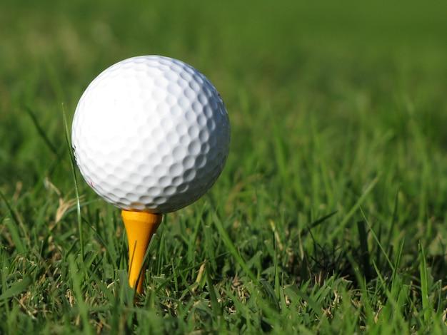 Piłka golfowa na zielono