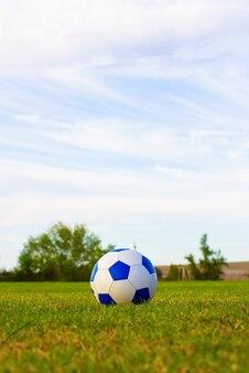 Piłka nożna na zielonym boisku