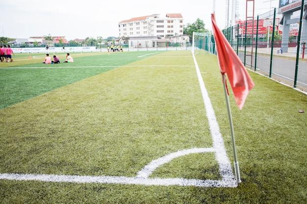 Piłka nożna piłka nożna na linii rożnej