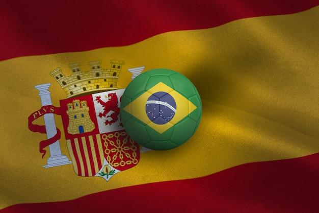 Piłka nożna w kolorach brasil