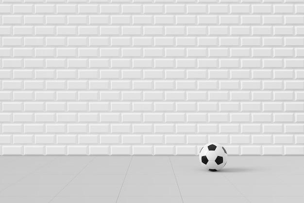 Piłka nożna z minimalnymi koncepcjami, renderowanie 3d.