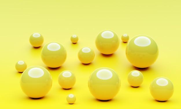 Piłka z cieniem na żółtym tle