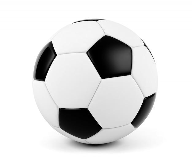 Piłki nożnej piłka odizolowywająca na białym tle
