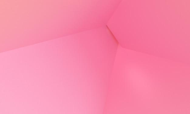 Pink box 3d minimalistyczny styl projektowania, 3d render abstrakcyjne tło.