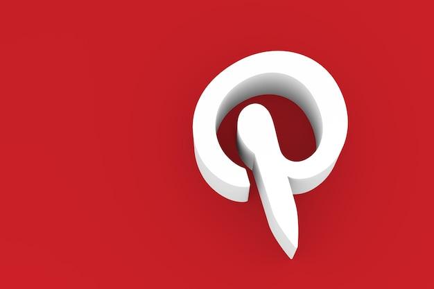 Pintrest logo 3d renderowania tła
