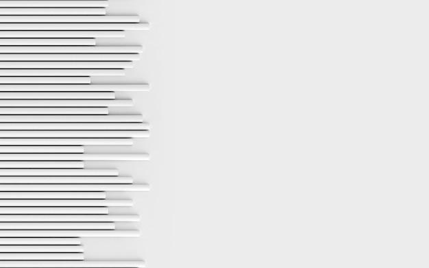 Pionowa bezszwowa tekstura białe paski rury geometryczny bezszwowy wzór 3d renderowania tła