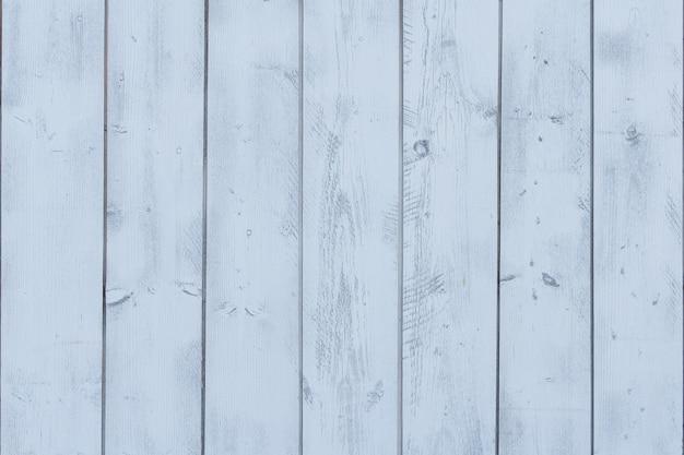 Pionowe deski pomalowane niebieską farbą.