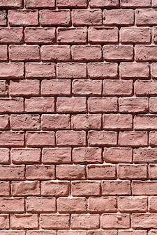 Pionowe kopia przestrzeń ceglany mur w tle