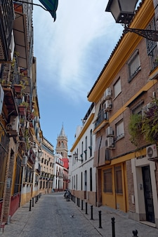 Pionowe ujęcie kościoła parroquia de senora santa ana w hiszpanii