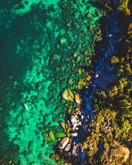 Pionowe ujęcie lake tahoe wstać paddleboard