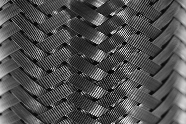 Pionowy oplot z drutu metalowego stalowa tekstura.