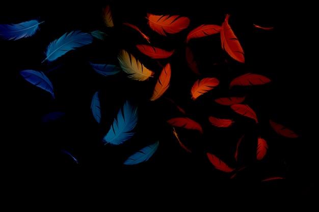 Pióro abstrakcyjne tło
