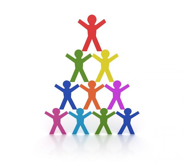 Piramida ludzi piktogramu pracy zespołowej