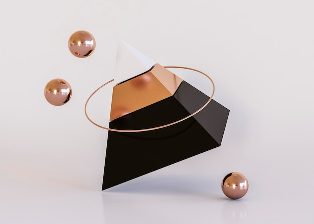 Piramida luksusowych kształtów geometrycznych tła