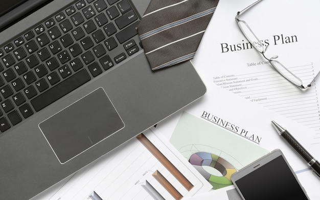 Pisanie biznes koncepcja przygotowania planu.