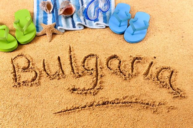 Pisanie na plaży bułgaria