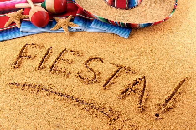 Pisanie na plaży fiesta