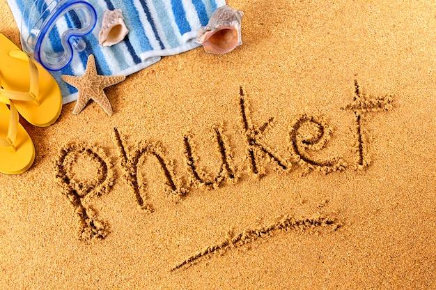 Pisanie na plaży w phuket