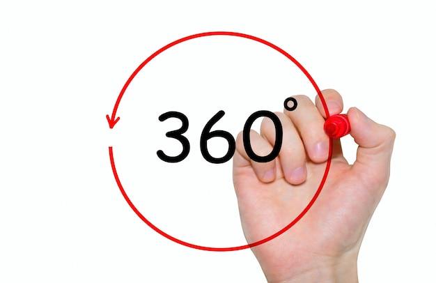 Pisma ręcznego napis 360 stopni markerem, koncepcja