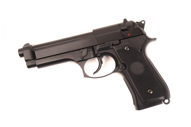 Pistolet m9 na białym tle