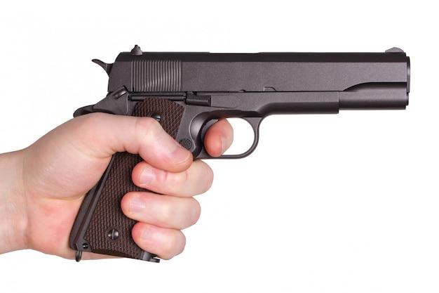 Pistolet w ręku