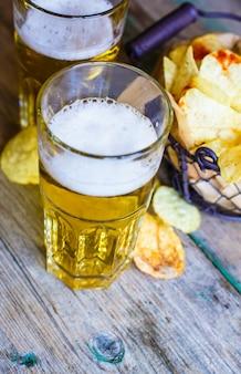 Piwo z frytkami