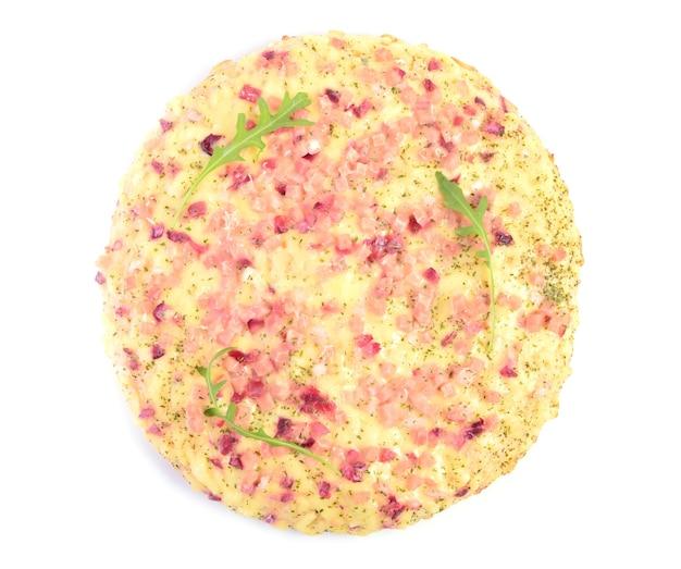 Pizza na białym tle