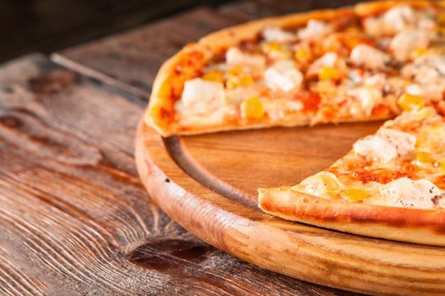 Pizza włoskie jedzenie fastfood smaczne pyszne świeże domowe koncept