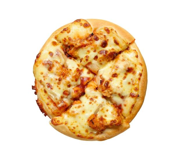 Pizza z serem na białym tle i mają ścieżki przycinające.