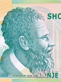 Pjeter bogdani portret z albańskich pieniędzy