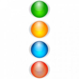 Pkt pisania tekstu ikona kolorowe kule