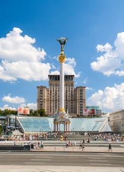 Plac niepodległości, główny plac kijowa, stolicy ukrainy
