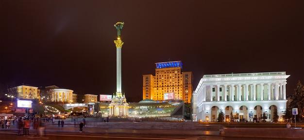 Plac niepodległości, główny plac kijowa, ukraina