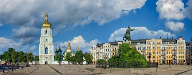Plac św. zofii w kijowie, ukraina
