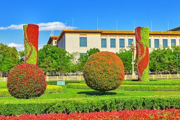 Plac tiananmen - trzeci co do wielkości plac na świecie, pekin, chiny.