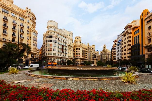 Placa del ajuntament w walencji, hiszpania