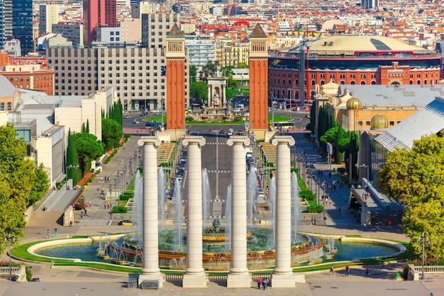Placa espanya w barcelonie, katalonia, hiszpania