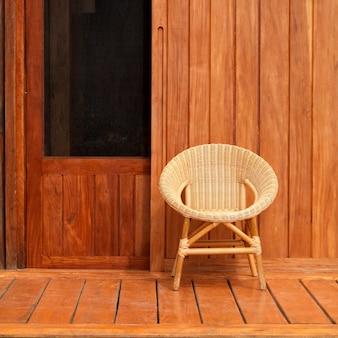 Placencia, krzesło wiklinowe