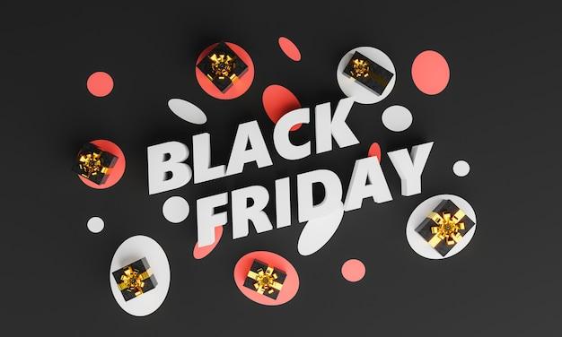 Plakat black friday z prezentami