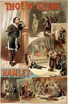 Plakat hamlet william shakespeare