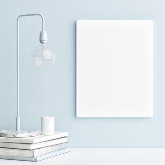 Plakat makieta z kompozycją minimalizmu dekoracji