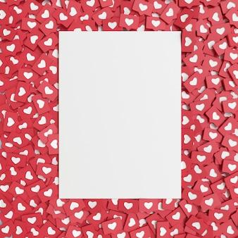 Plakat mockup z miłością emoji