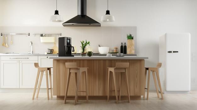 Plakat wewnętrzny salon i kuchnia