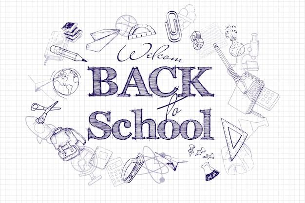 Plakat z powrotem do szkoły